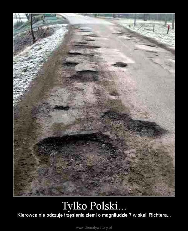 Tylko Polski... – Kierowca nie odczuje trzęsienia ziemi o magnitudzie 7 w skali Richtera...