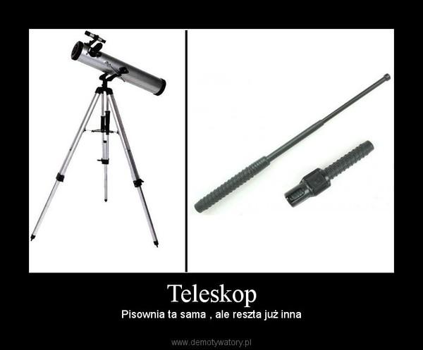 Teleskop – Pisownia ta sama , ale reszta już inna
