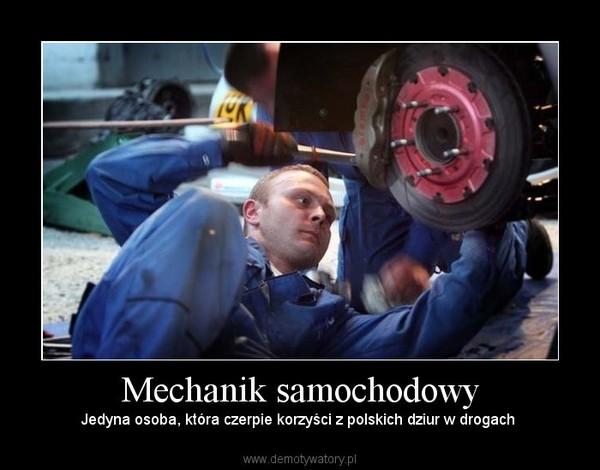 Mechanik samochodowy – Jedyna osoba, która czerpie korzyści z polskich dziur w drogach