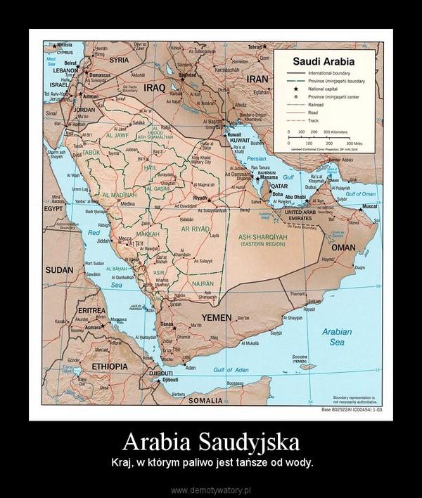 Arabia Saudyjska –  Kraj, w którym paliwo jest tańsze od wody.