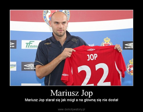 Mariusz Jop – Mariusz Jop starał się jak mógł a na główną się nie dostał