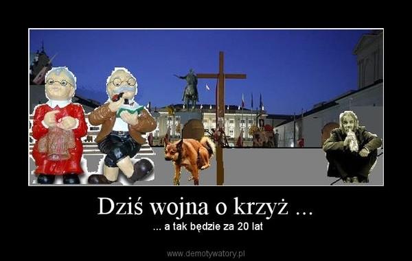 Dziś wojna o krzyż ... –  ... a tak będzie za 20 lat