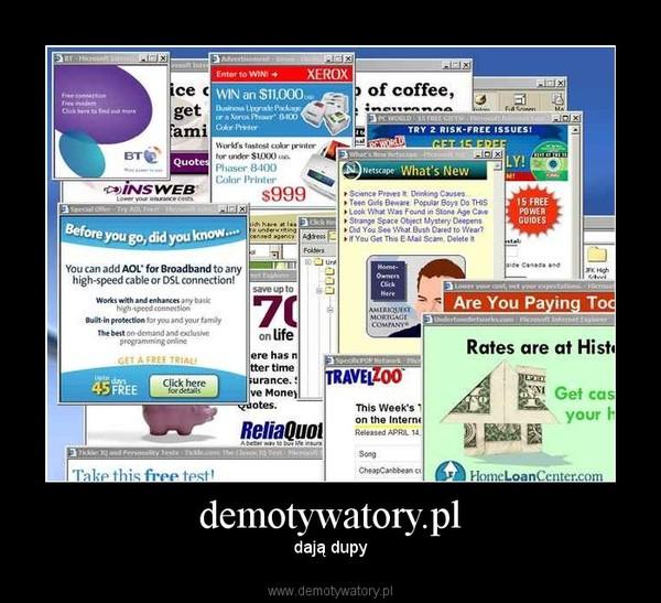 demotywatory.pl – dają dupy