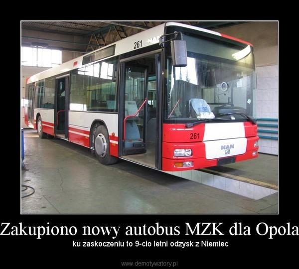 Zakupiono nowy autobus MZK dla Opola –  ku zaskoczeniu to 9-cio letni odzysk z Niemiec