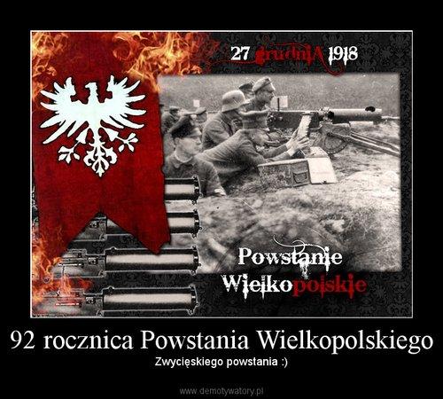 92 rocznica Powstania Wielkopolskiego