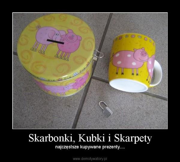 Skarbonki, Kubki i Skarpety – najczęstsze kupywane prezenty....