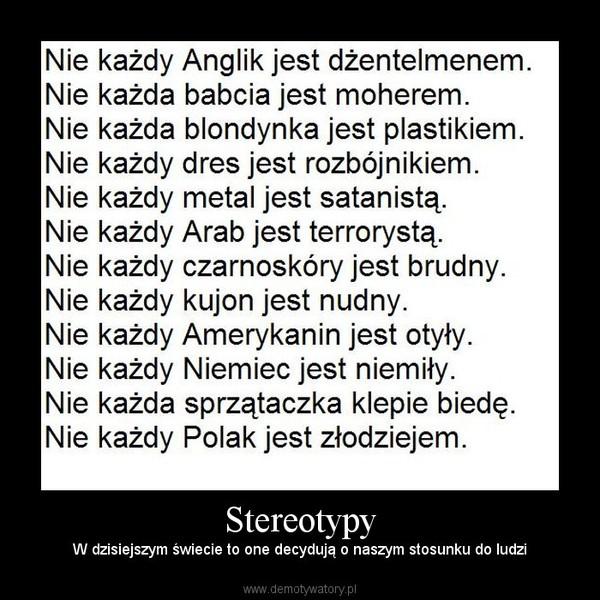 Stereotypy Demotywatorypl