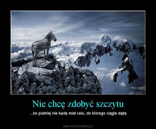 Nie chcę zdobyć szczytu – ...bo później nie będę miał celu, do którego ciągle dążę