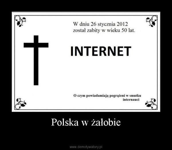 Polska w żałobie –