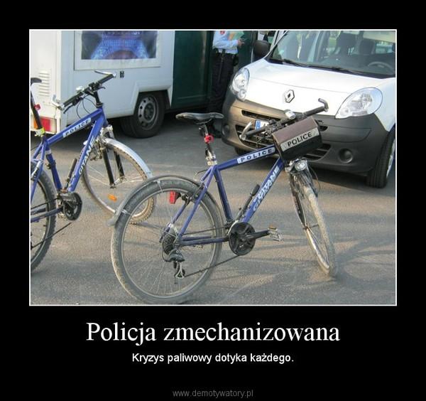 Policja zmechanizowana – Kryzys paliwowy dotyka każdego.