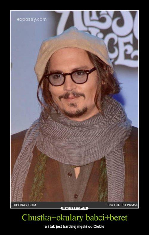 Chustka+okulary babci+beret