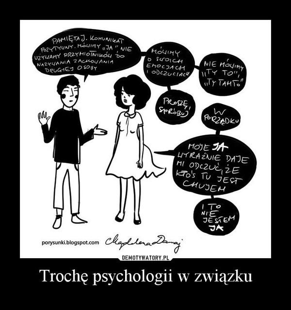 Trochę psychologii w związku –