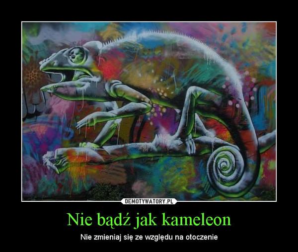 Nie bądź jak kameleon – Nie zmieniaj się ze względu na otoczenie