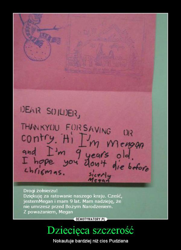 Dziecięca szczerość – Nokautuje bardziej niż cios Pudziana
