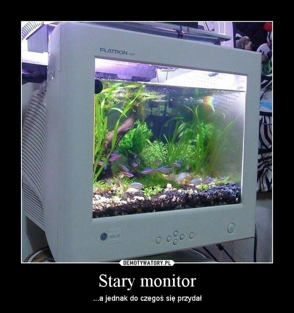 Stary monitor – ...a jednak do czegoś się przydał