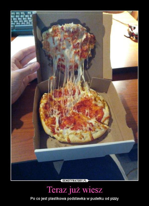 Teraz już wiesz – Po co jest plastikowa podstawka w pudełku od pizzy