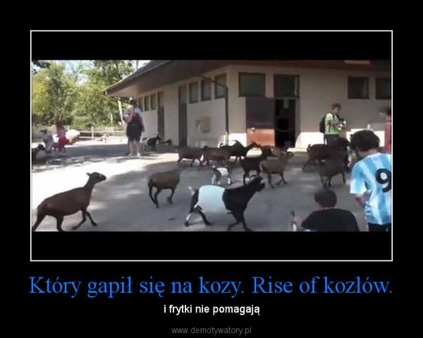 Który gapił się na kozy. Rise of kozłów. – i frytki nie pomagają