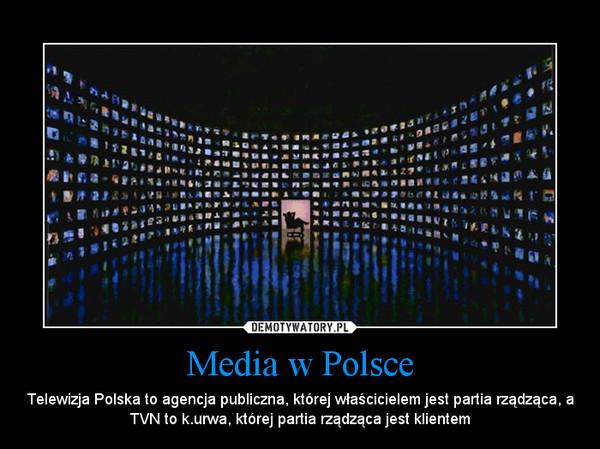 Media w Polsce – Telewizja Polska to agencja publiczna, której właścicielem jest partia rządząca, a TVN to k.urwa, której partia rządząca jest klientem