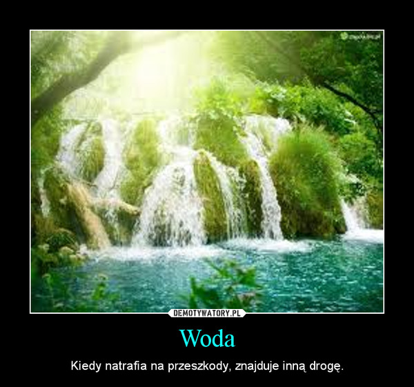 Woda – Kiedy natrafia na przeszkody, znajduje inną drogę.