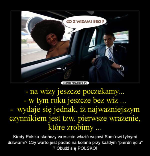 """- na wizy jeszcze poczekamy...- w tym roku jeszcze bez wiz ...-  wydaje się jednak, iż najważniejszym czynnikiem jest tzw. pierwsze wrażenie, które zrobimy ... – Kiedy Polska skończy wreszcie włazić wujowi Sam`owi tylnymi drzwiami? Czy warto jest padać na kolana przy każdym """"pierdnięciu"""" ? Obudź się POLSKO!"""