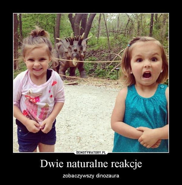 Dwie naturalne reakcje – zobaczywszy dinozaura