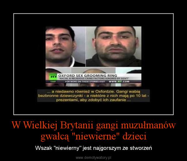 Znalezione obrazy dla zapytania muzułmańskie dziecko demoty w