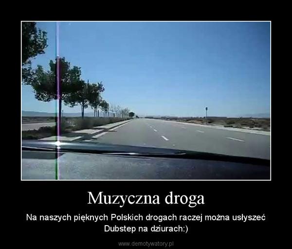 Muzyczna droga – Na naszych pięknych Polskich drogach raczej można usłyszeć Dubstep na dziurach:)