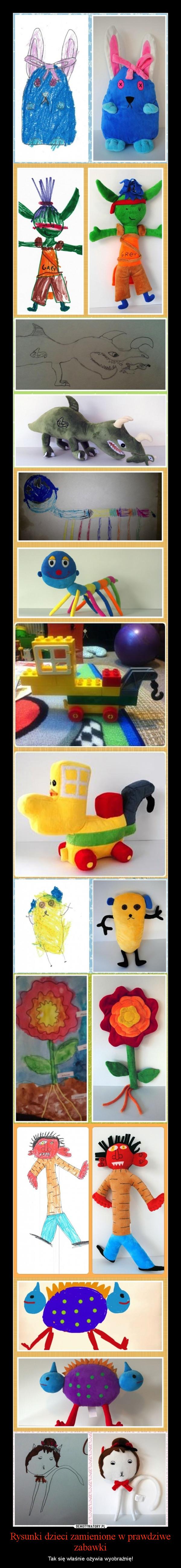 Rysunki dzieci zamienione w prawdziwe zabawki – Tak się właśnie ożywia wyobraźnię!
