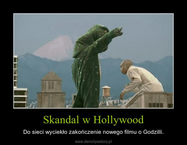 Skandal w Hollywood – Do sieci wyciekło zakończenie nowego filmu o Godzilli.