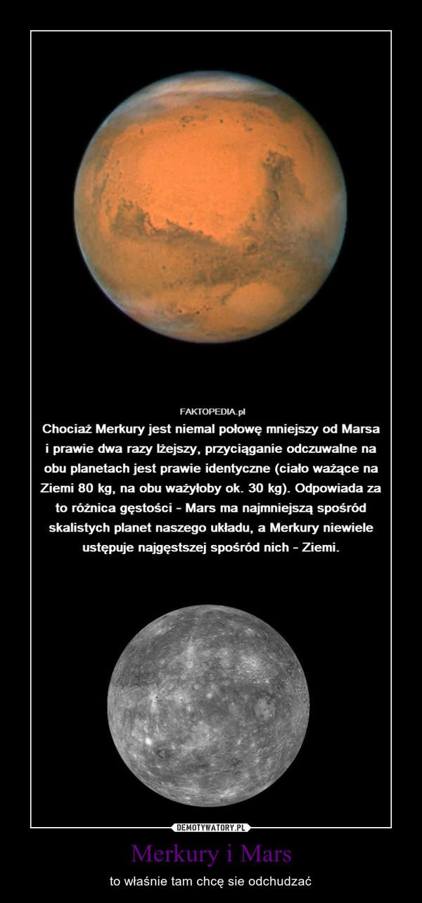 Merkury i Mars – to właśnie tam chcę sie odchudzać
