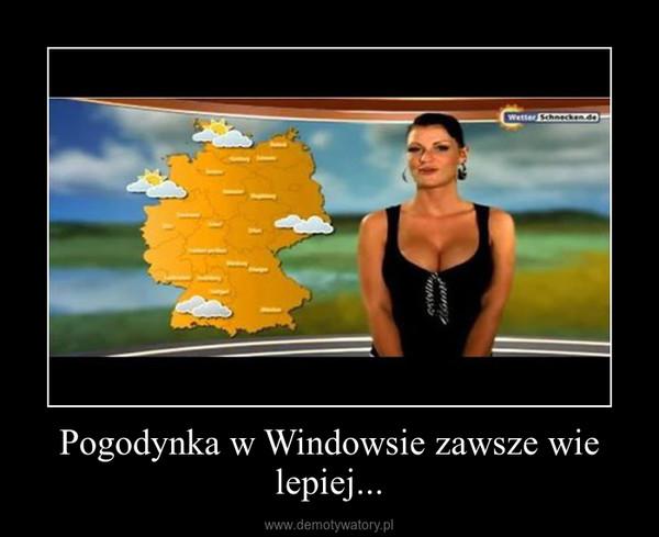 Pogodynka w Windowsie zawsze wie lepiej... –