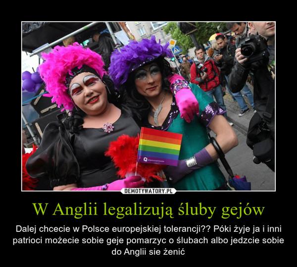 W Anglii Legalizują śluby Gejów Demotywatorypl