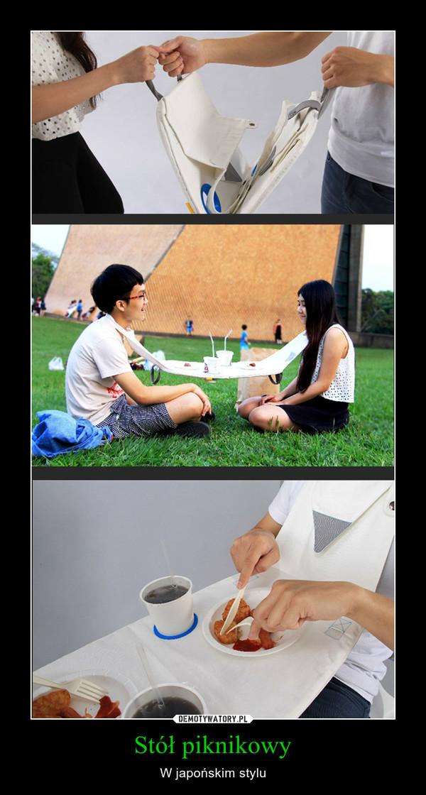 Stół piknikowy – W japońskim stylu