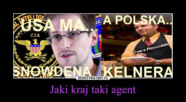 Jaki kraj taki agent –