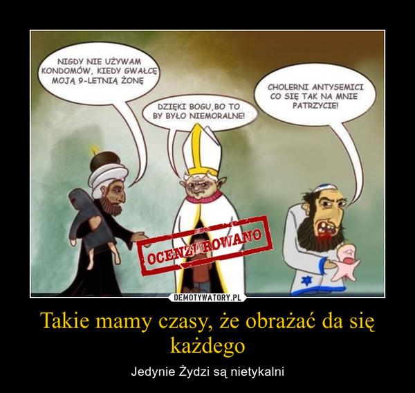 Takie mamy czasy, że obrażać da się każdego – Jedynie Żydzi są nietykalni