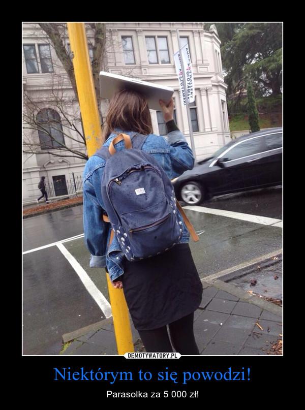 Niektórym to się powodzi! – Parasolka za 5 000 zł!