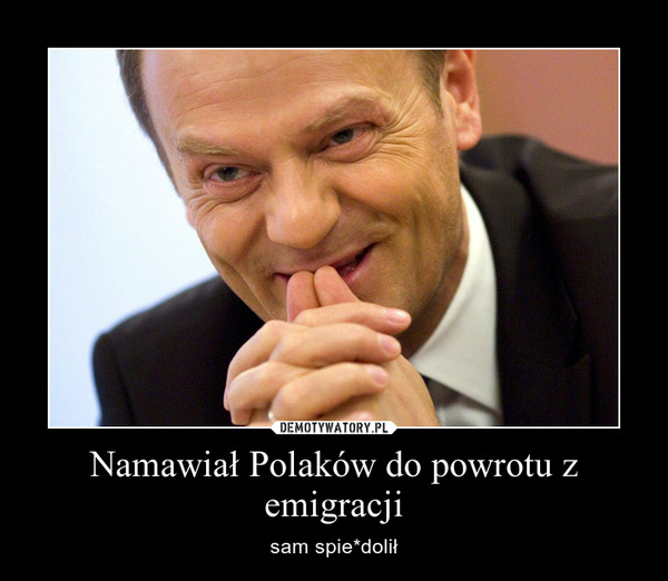 Namawiał Polaków do powrotu z emigracji – sam spie*dolił