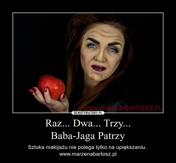 Raz... Dwa... Trzy...Baba-Jaga Patrzy – Sztuka makijażu nie polega tylko na upiększaniu. www.marzenabartosz.pl