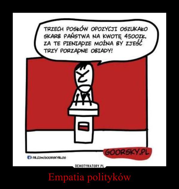 Empatia polityków –