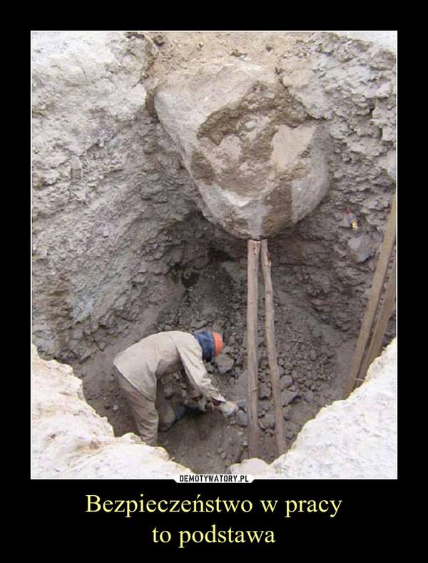 Bezpieczeństwo w pracyto podstawa –