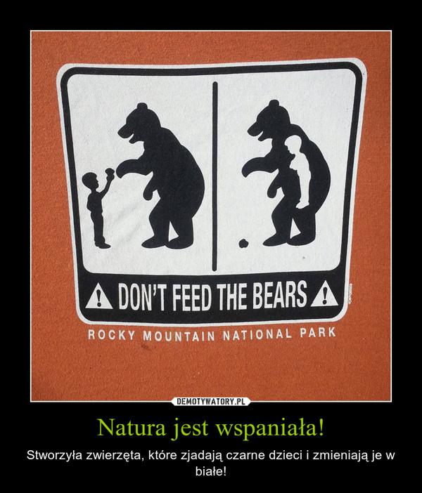 Natura jest wspaniała! – Stworzyła zwierzęta, które zjadają czarne dzieci i zmieniają je w białe!