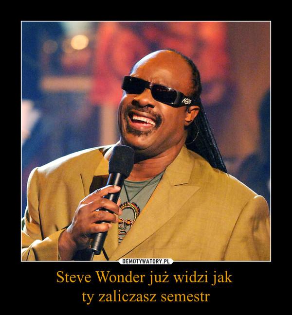 Steve Wonder już widzi jak ty zaliczasz semestr –