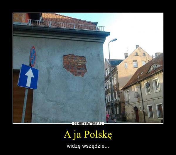 A ja Polskę – widzę wszędzie...