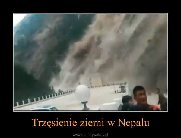 Trzęsienie ziemi w Nepalu –