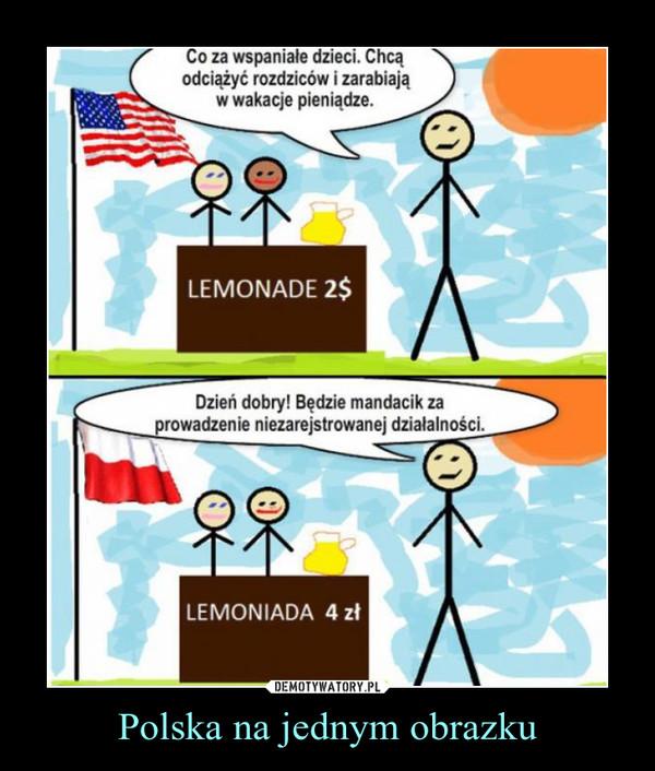 Polska na jednym obrazku –  Co za wspaniali ludzie, chcą odciążyć rodziców i zarabiają w wakacje pieniądze.Dzień dobry, będzie mandacik za prowadzenie niezarejestrowanej działalności.