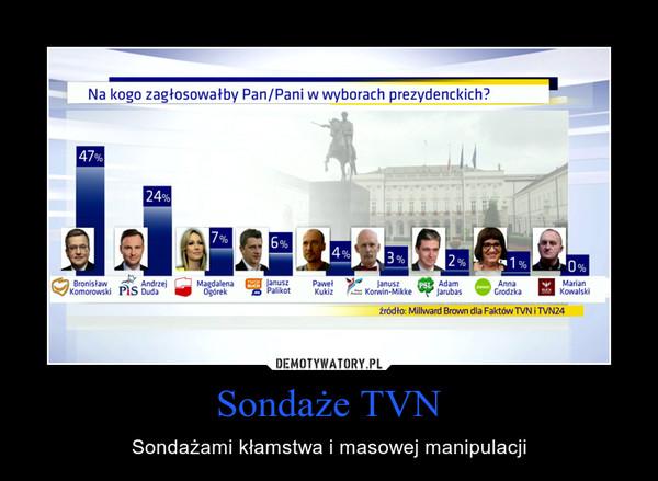 Sondaże TVN – Sondażami kłamstwa i masowej manipulacji