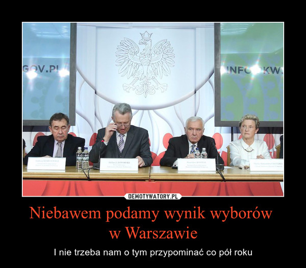 Niebawem podamy wynik wyborów w Warszawie – I nie trzeba nam o tym przypominać co pół roku