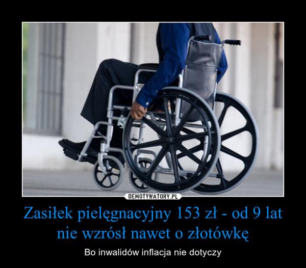 Zasiłek pielęgnacyjny 153 zł - od 9 lat nie wzrósł nawet o złotówkę – Bo inwalidów inflacja nie dotyczy