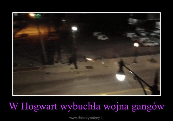 W Hogwart wybuchła wojna gangów –