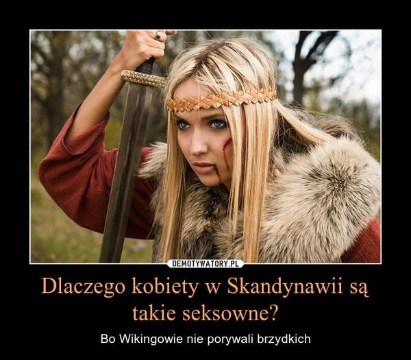 Dlaczego kobiety w Skandynawii są takie seksowne? – Bo Wikingowie nie porywali brzydkich